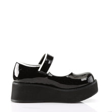 Load image into Gallery viewer, Demonia Sprite-01 Platform Mary Janes in Black and White Patent