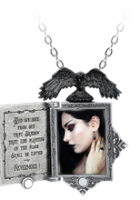 Load image into Gallery viewer, Alchemy of England Poe's Raven Locket Necklace