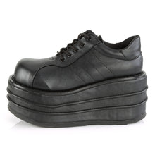 Load image into Gallery viewer, Demonia Tempo-08 Platform Sneakers in Black Vegan Leather