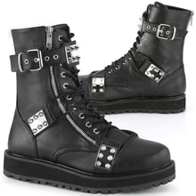 Load image into Gallery viewer, Demonia Valor-280 Mens Boots with Spike Plates