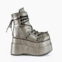 Load image into Gallery viewer, Demonia Bear-120 Grey Textured Vegan Leather*