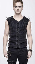 Load image into Gallery viewer, Devil Fashion Spiked Shoulder Tank Top