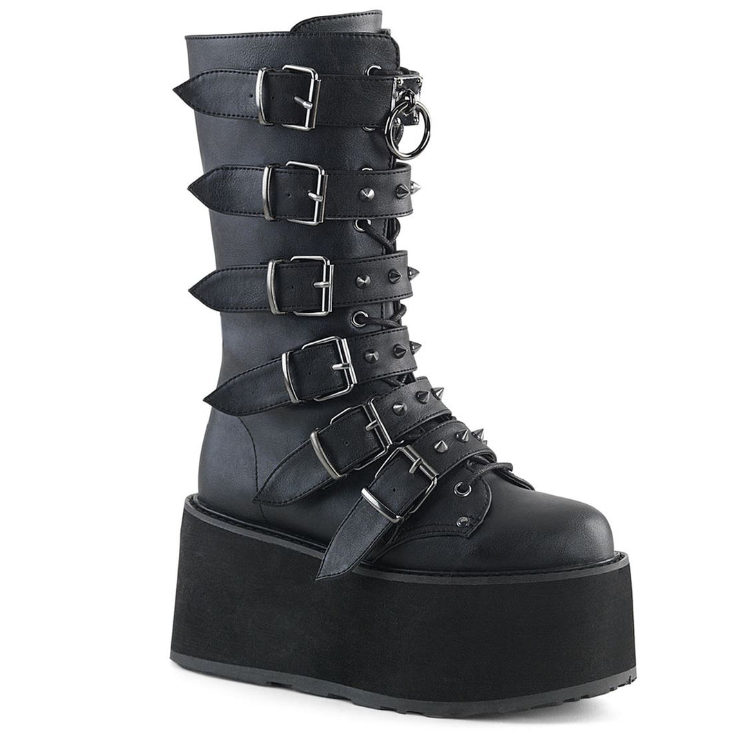 Demonia Damned-225 Black Vegan Leather