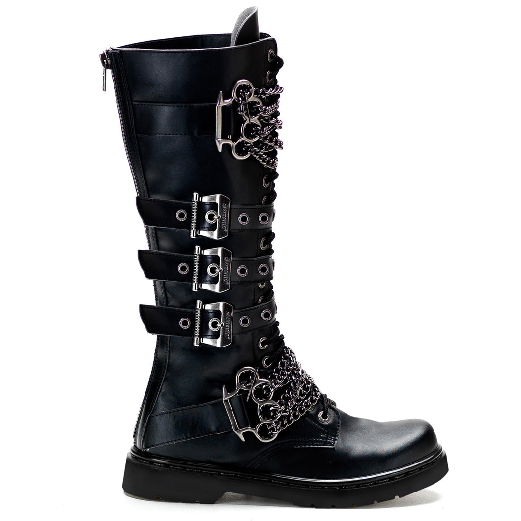 Demonia Defiant-402 in Black Vegan Leather*