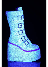 Load image into Gallery viewer, Demonia Swing-230G White Glitter Boots