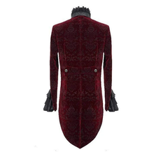 Load image into Gallery viewer, Devil Fashion Victorian Gothic Tailcoat in Burgundy