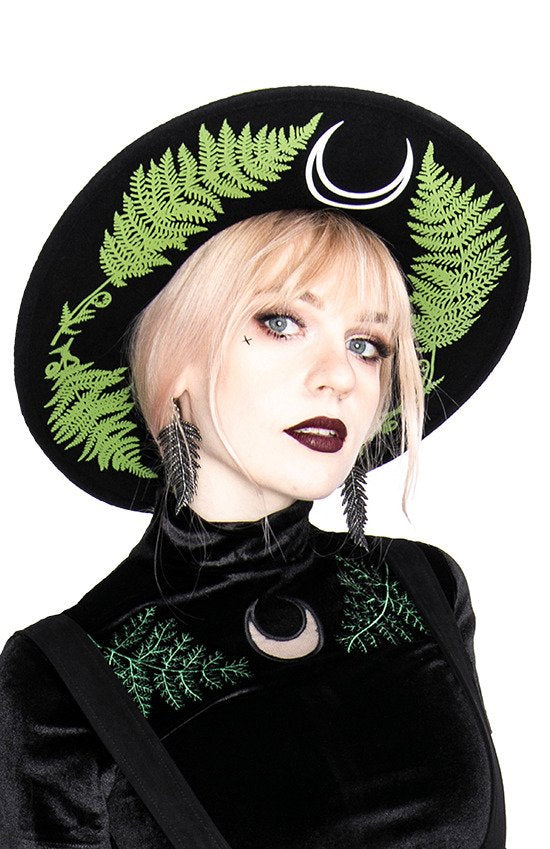 Restyle Fern Hat with wide brim, wool