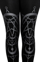 Load image into Gallery viewer, Restyle TWIN MOON Gothic LEGGINGS with moon print (XS-3XL)