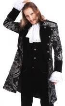 Load image into Gallery viewer, Pentagramme Men's Black and Silver Brocade Tailcoat