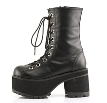 Load image into Gallery viewer, Demonia Ranger-301 Black Vegan Leather