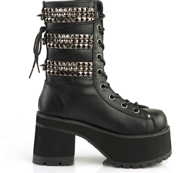 Demonia Ranger-305 Black Vegan Leather