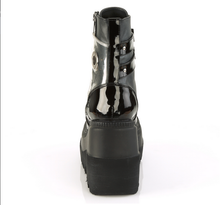 Load image into Gallery viewer, Demonia Shaker-57* Matte Black and Patent and Clear PVC