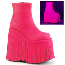 Load image into Gallery viewer, Demonia Slay-205 in Neon Hot Pink Vegan Leather/