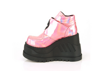 Load image into Gallery viewer, Demonia Stomp-15 in Pink Holographic Glitter#