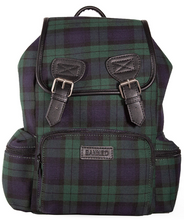 Load image into Gallery viewer, Banned Alternative Green Tartan Backpack