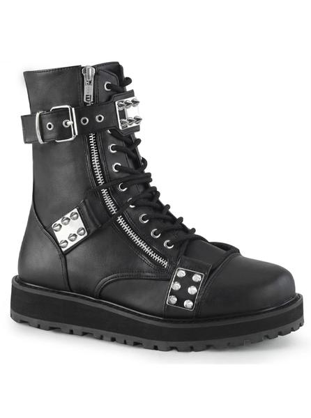 Demonia Valor-280 Mens Boots with Spike Plates