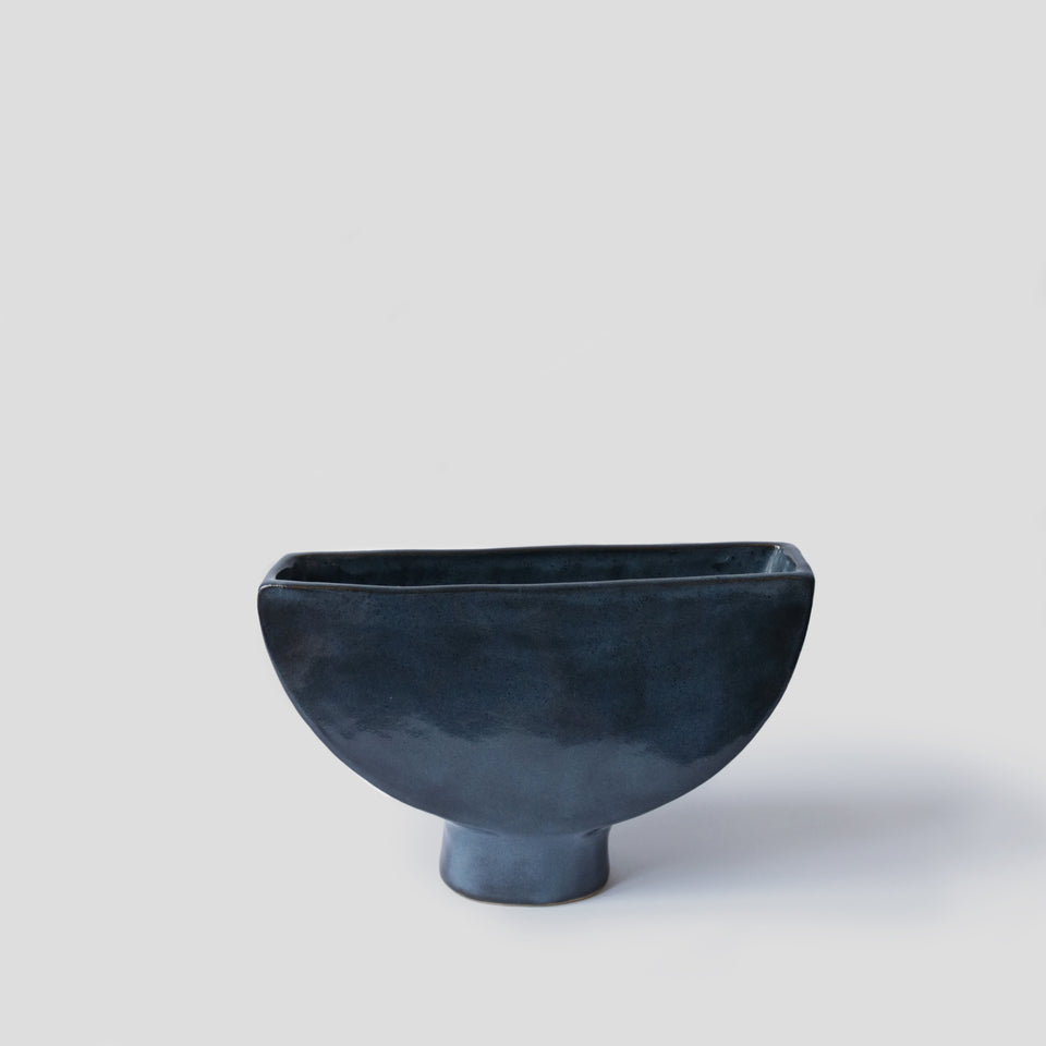 Suiban vase Half-moon Midnight Blue