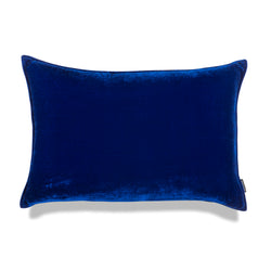 Bluey Lumbar Luxury Silk Velvet Cushion by Nathan + Jac - EDITION