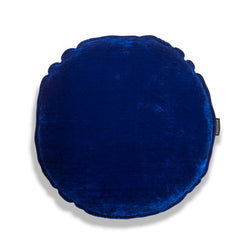 Bluey Round Luxury Silk Velvet Cushion by Nathan + Jac - EDITION