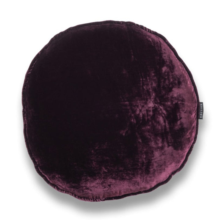 Cher Round Silk Velvet Luxury Cushion by Nathan + Jac EDITION