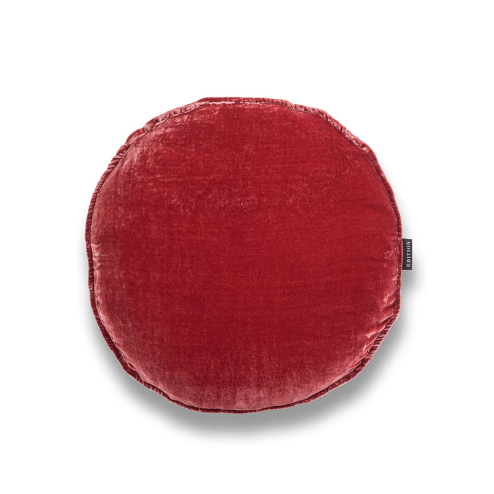 Coralie Round Silk Velvet Luxury cushion by Nathan + Jac - EDITION