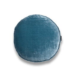 Ella Round Silk Velvet Luxury Cushion by Nathan + Jac EDITION