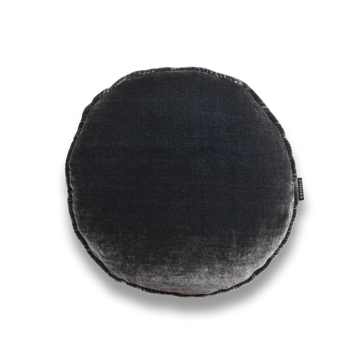 Elton Round Silk Velvet Luxury Cushion by Nathan + Jac EDITION