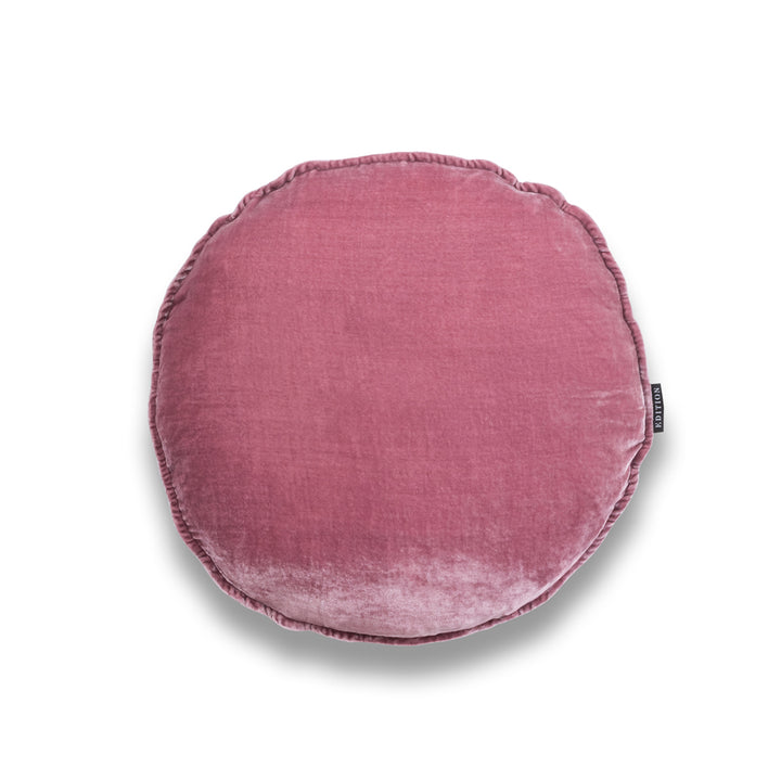 Gloria Round Silk Velvet Luxury Cushion by Nathan + Jac EDITION