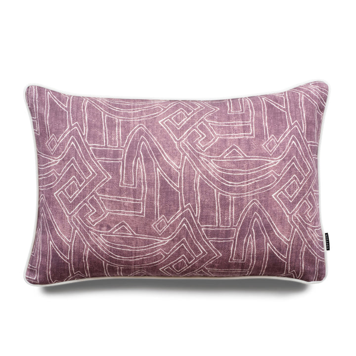 Harper Aztec Lumbar Linen Luxury Cushion by Nathan + Jac - EDITION