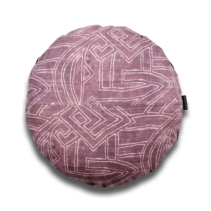 Harper Aztec Round Linen Luxury Cushion by Nathan + Jac - EDITION