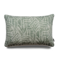 Jose Aztec Lumbar Linen Luxury Cushion by Nathan + Jac - EDITION
