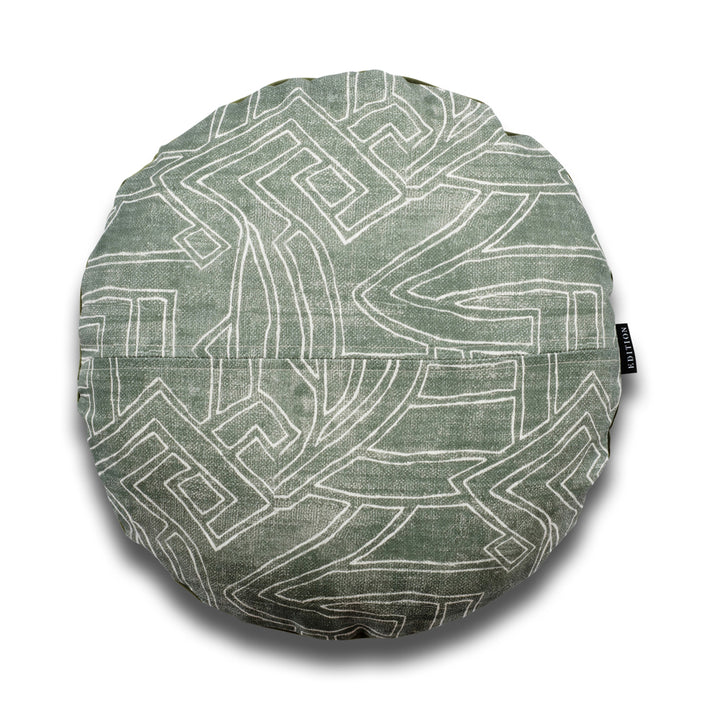 Jose Aztec Round Linen Luxury Cushion by Nathan + Jac - EDITION