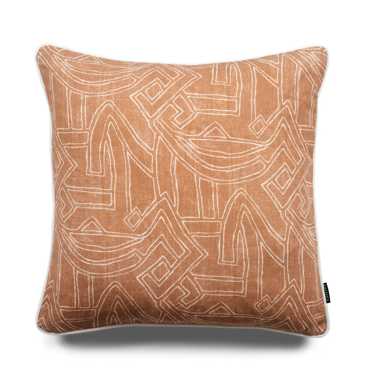 Leo Aztec 50cm Linen Luxury Cushion by Nathan + Jac - EDITION