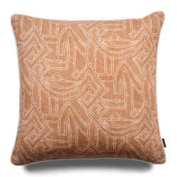 Leo Aztec 60cm Linen Luxury Cushion by Nathan + Jac - EDITION