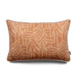 Leo Aztec Lumbar Linen Luxury Cushion by Nathan + Jac - EDITION
