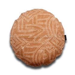 Leo Aztec Round Linen Luxury Cushion by Nathan + Jac - EDITION