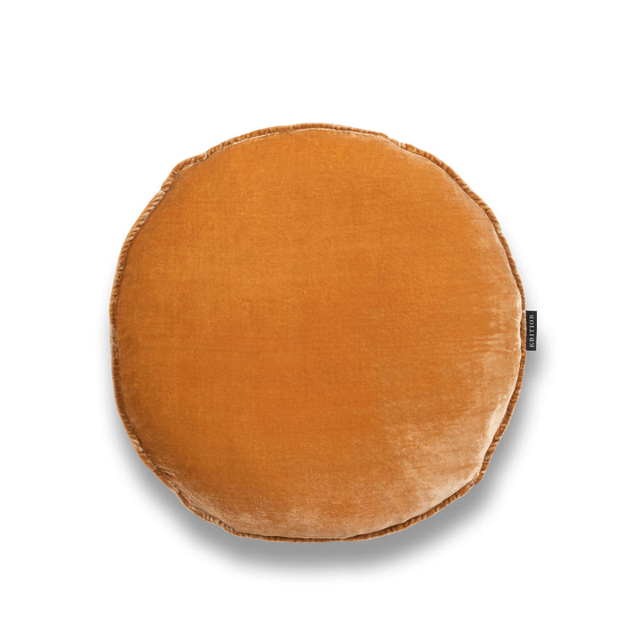 Louie Round Silk Velvet Luxury Cushion by Nathan + Jac EDITION
