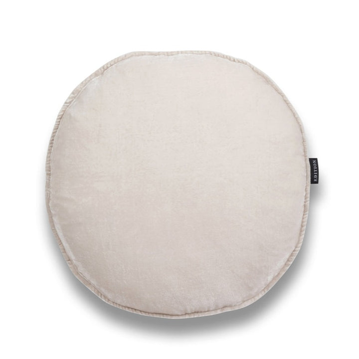 Pearl Round Luxury Silk Velvet Cushion by Nathan + Jac - EDITION