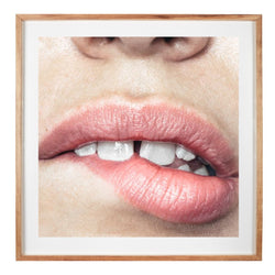 Lips Print - 'Bite' by Nastia