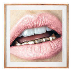 Lips Prints - 'Grills' by Nastia