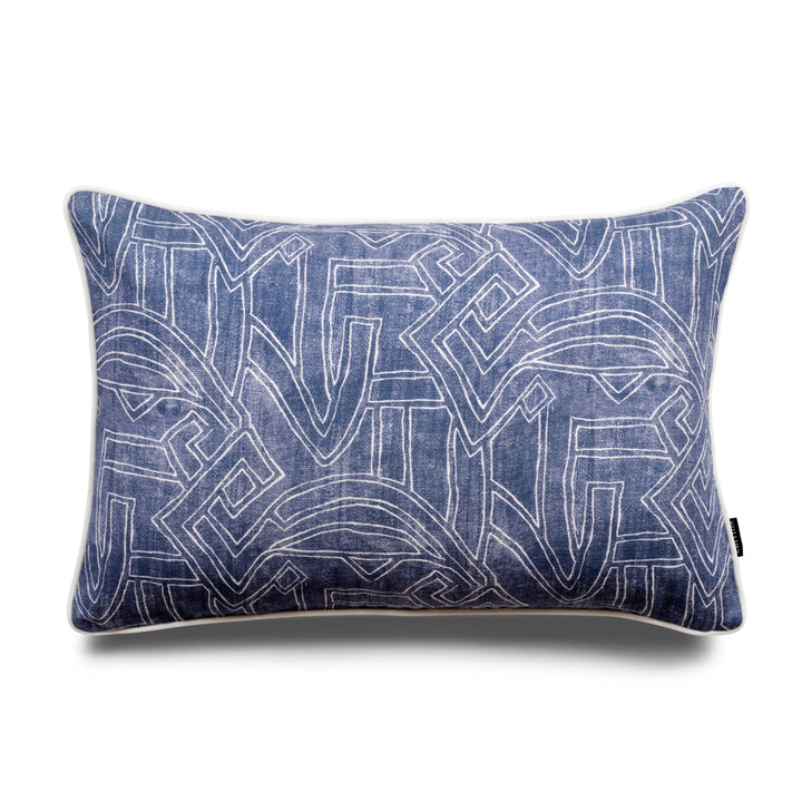Stellan Aztec Lumbar Linen Luxury Cushion by Nathan + Jac - EDITION