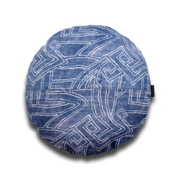 Stellan Aztec Round Linen Luxury Cushion by Nathan + Jac - EDITION