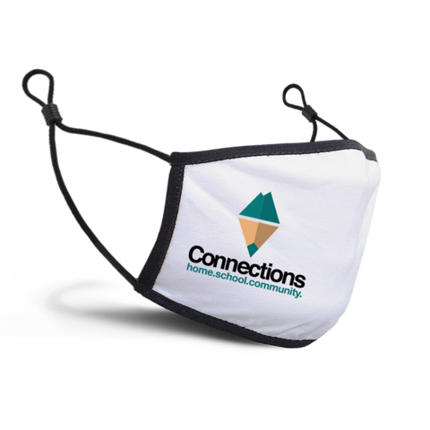 Connections Home School Community mask