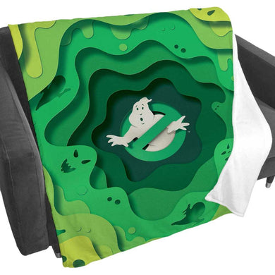 Ghostbusters Slime Logo Fleece Blanket