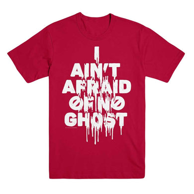 Ain't Afraid of no Ghost Red Unisex Tee from Ghostbusters