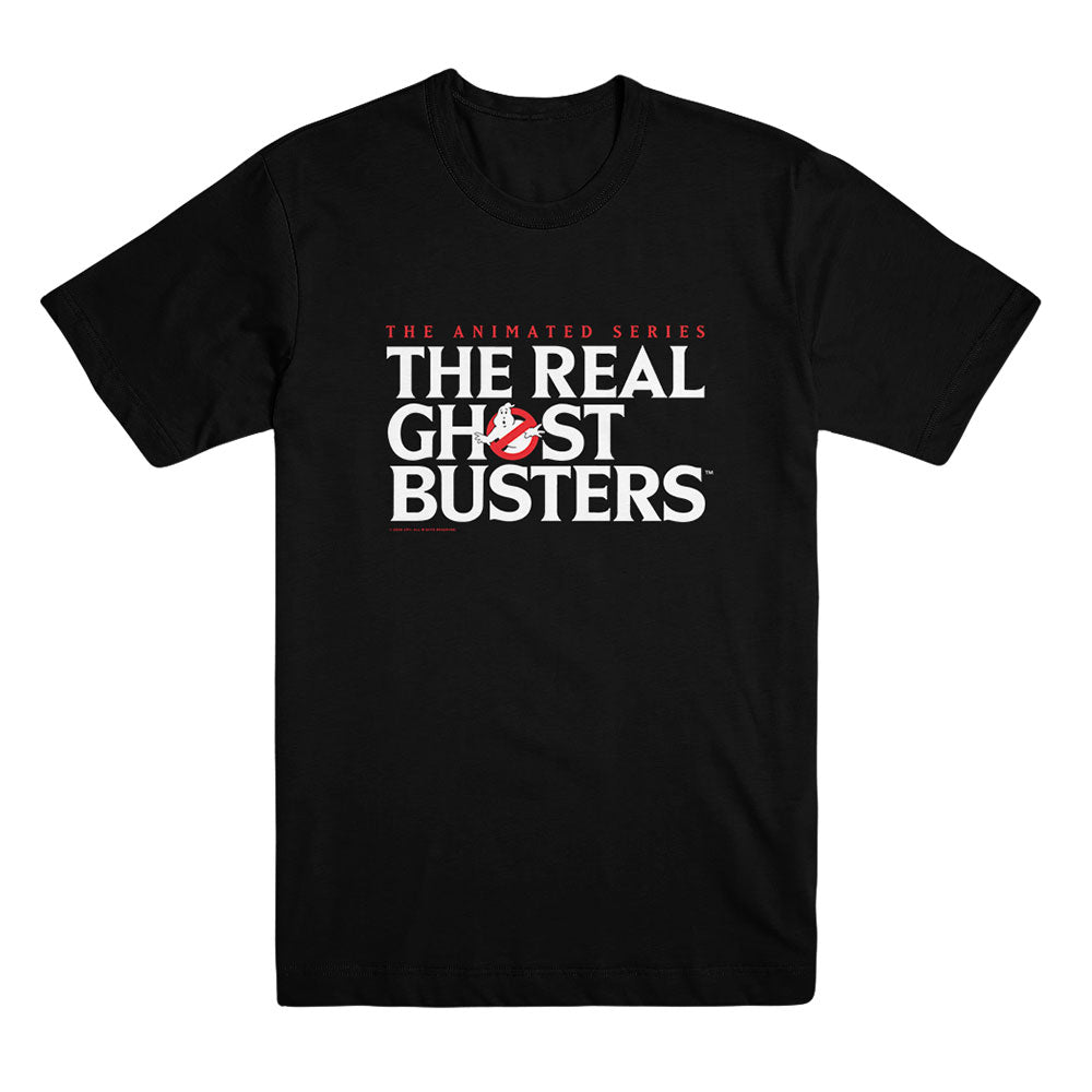 The Real Ghostbusters Logo Black T-Shirt