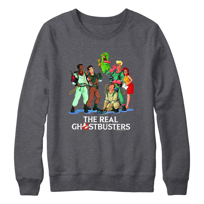 Ghostbusters Crew Charcoal Sweatshirt from The Real Ghostbusters