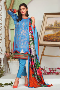 Linen Embroidered 3PC