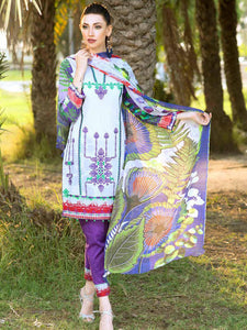 Embroidered Lawn 3 PC