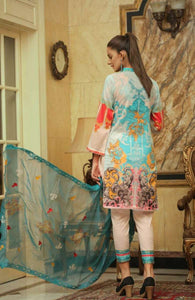 Embroidered Lawn 3 PC Ar#102